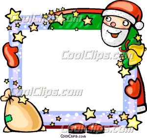 Christmas Picture Frame Clip Art.