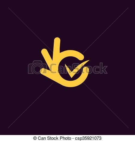 Vectors Illustration of Vector isolated unusual logo. Good job.