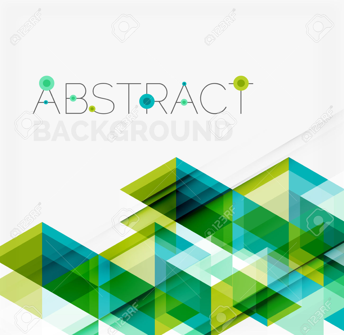 Abstract Geometric Background. Modern Overlapping Triangles.