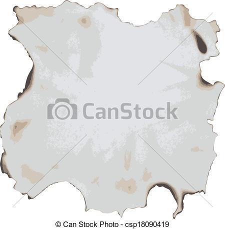 Vektor Clip Art von Papier, verbrannt.