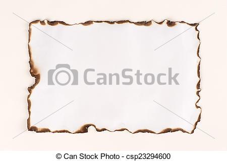 Stock Fotografie von verbrannt, Papier, Blatt, Rand, Freigestellt.