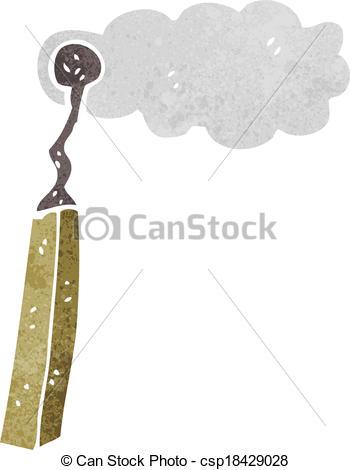 Vektor Illustration von verbrannt, karikatur, streichholz.