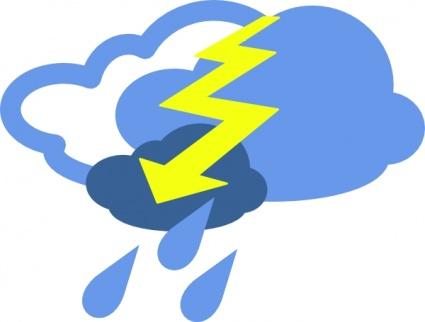 Schwere Thunder Unwetter Wetter Symbol ClipArt cliparts.