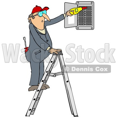 Clipart Illustration of an Unwise Middle Aged White Guy In A Robe.