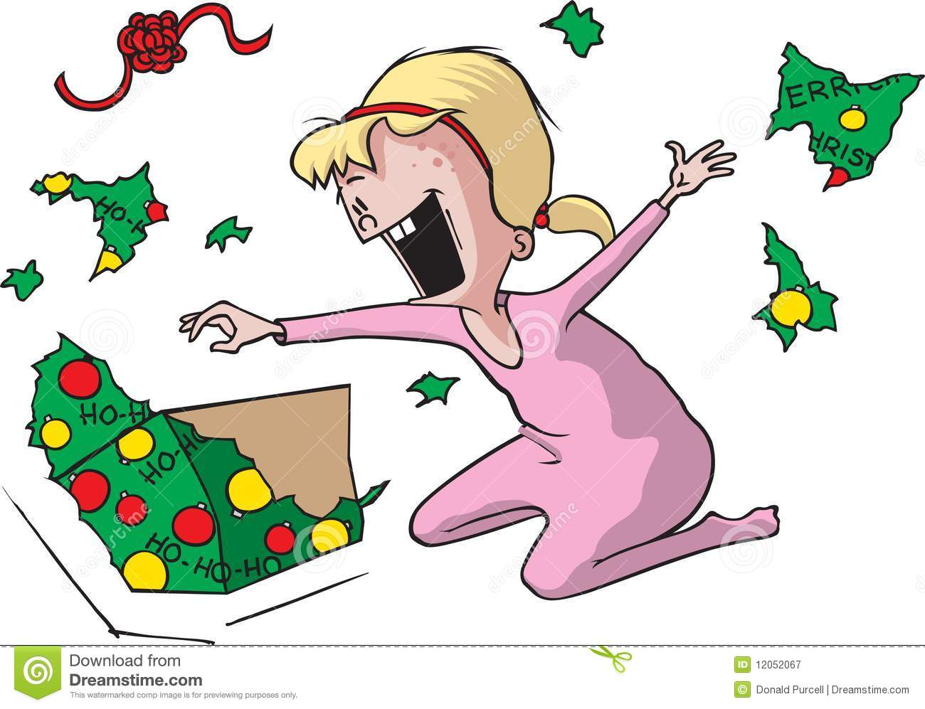 Showing post & media for Unwrapping christmas presents cartoon.
