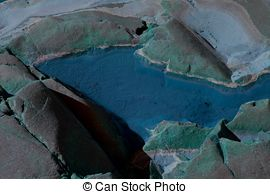 Stock Photos of Unwrought mineral, turquoise.