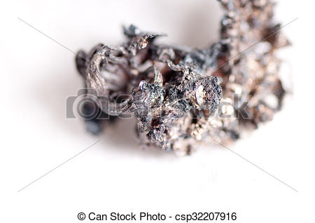 Stock Photography of raw silver ore.