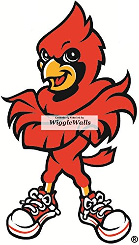 8 Inch Cardinal Bird University of Louisville Cardinals Logo UL UofL  Removable Wall Decal Sticker Art.