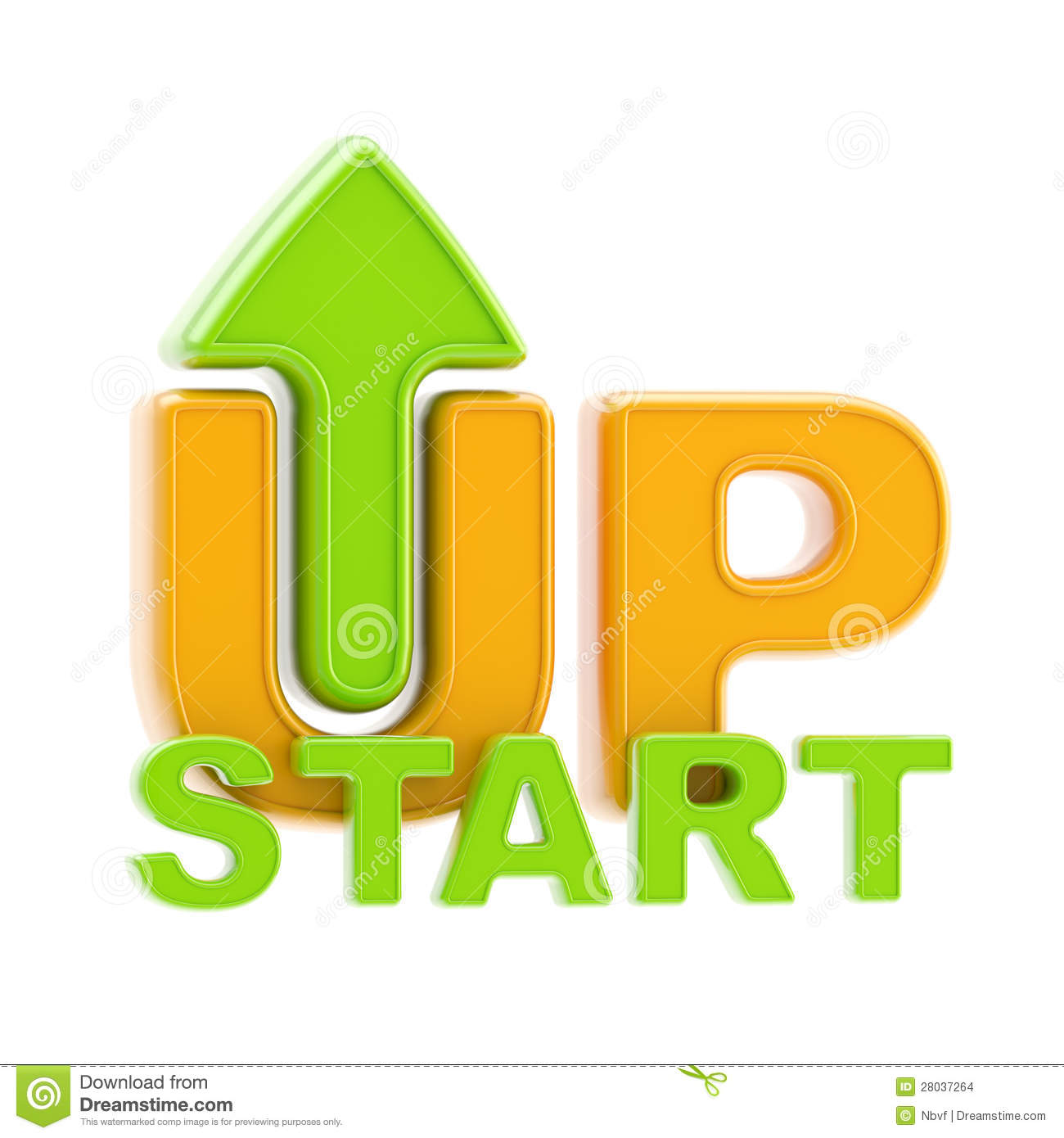 Startup Up Arrow Symbol Isolated Stock Images.