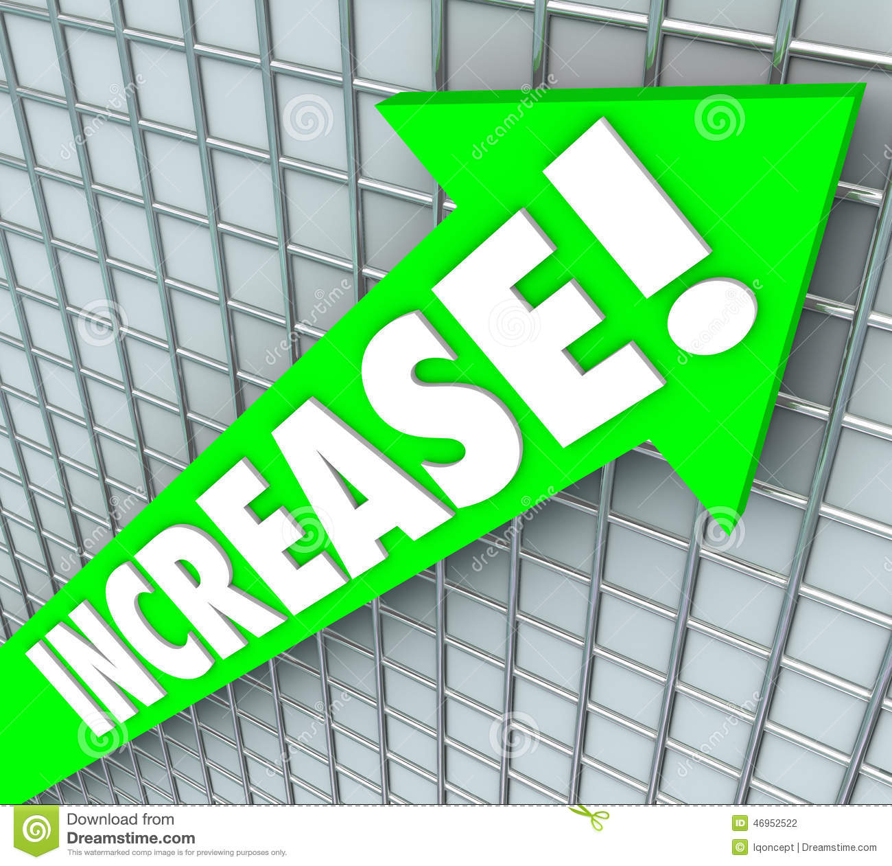 Increase Word Green Arrow Rising Up Improvement More Results Stock.
