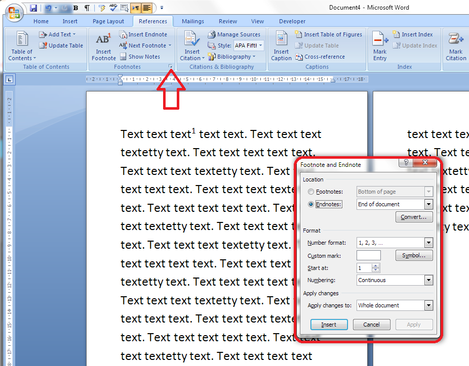 How do I add endnotes to a Word document?.