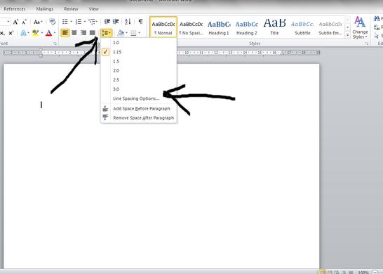 Line Spacing & Microsoft Word.