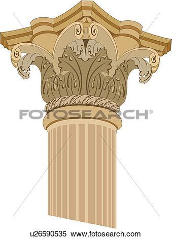 Clipart of Up close top of column Design Ornament u26590535.