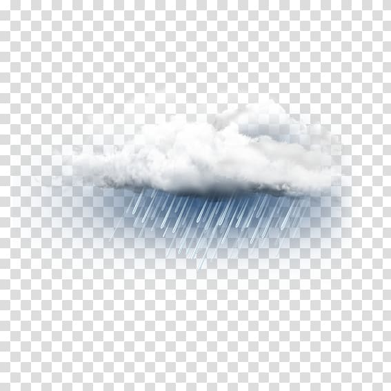 Cloud with rain illustration, Sky Close.