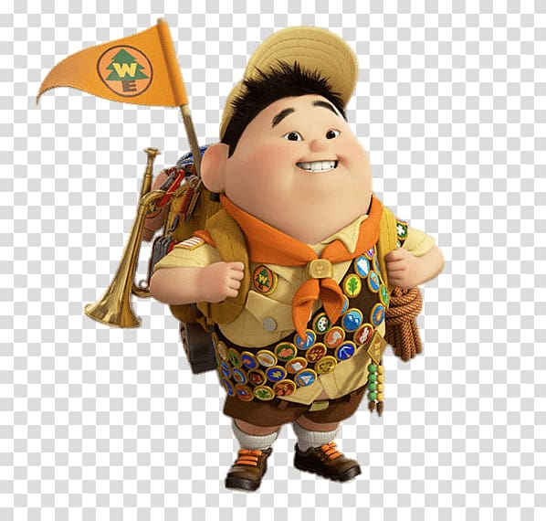 Russell from UP movie, Russell In Full Uniform transparent.