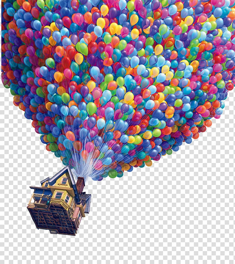 Up movie still screenshot, Film poster Pixar, balloon.