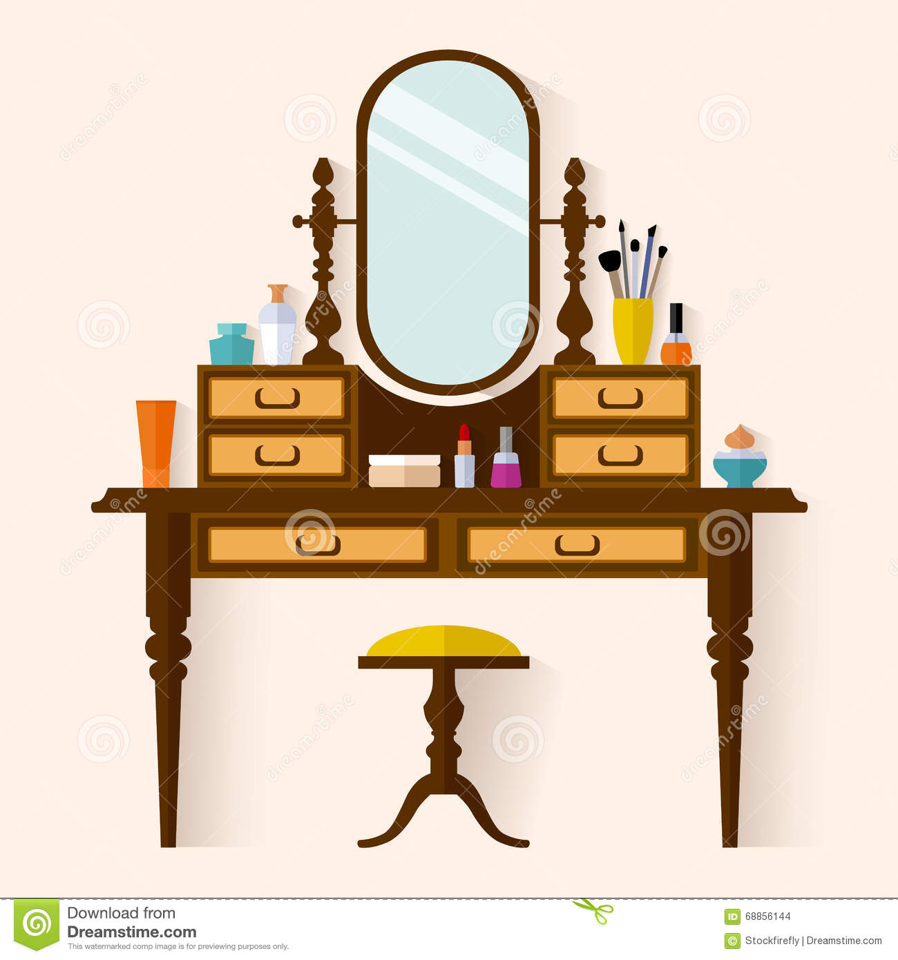 Dressing Table Clipart.