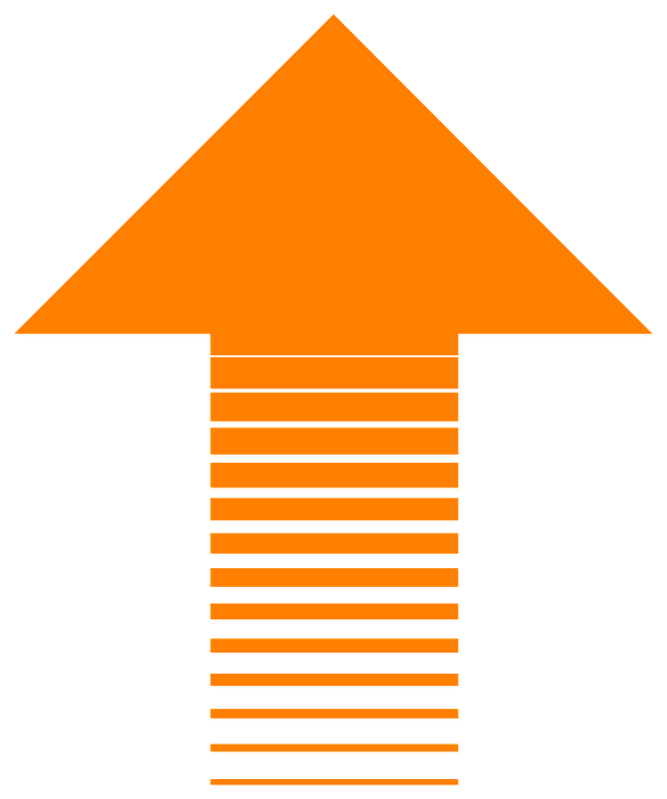 Up Arrow Free PNG Image.