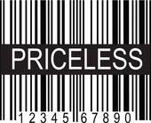 Clip Art of upc Code Priceless k8447568.