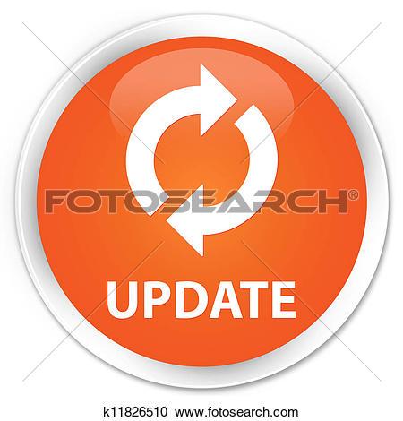 Stock Illustrations of Update icon orange button k11826510.