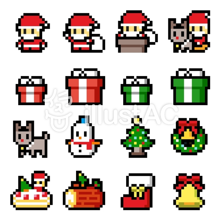 Pixel art christmas 16x16.