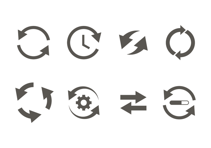 Glyph Update Icon Vector.