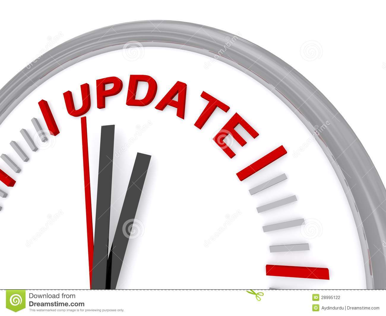 Update Clock Stock Photography.