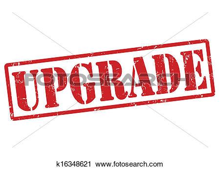 Clipart of Upgrade stamp k16348621.
