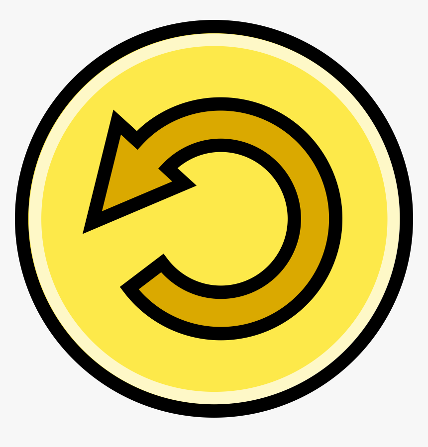 Upload Button Clipart Yellow.