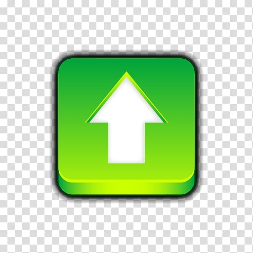 Green arrow up icon, Green Arrow Upload Button In Square.