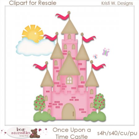 Once Upon A Time Castle Clipart For Resale #RJwFsL.