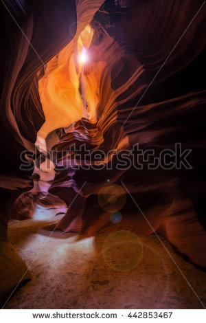 Antelope Arizona Canyon Sunbeam Stock Photos, Royalty.