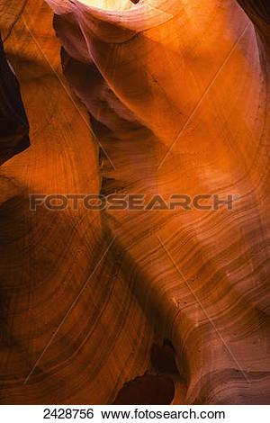 Stock Images of Upper Antelope Slot Canyon; Arizona, United States.