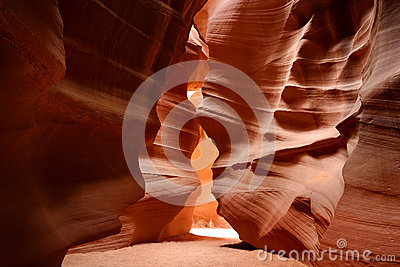 Glowing Colors Of Upper Antelope Canyon, The Famous Slot Canyon In.