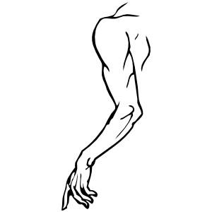 Left Arm clip art.