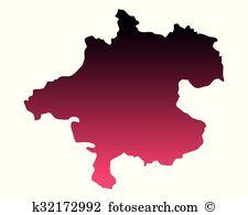 Upper austria contour Clip Art Vector Graphics. 66 upper austria.