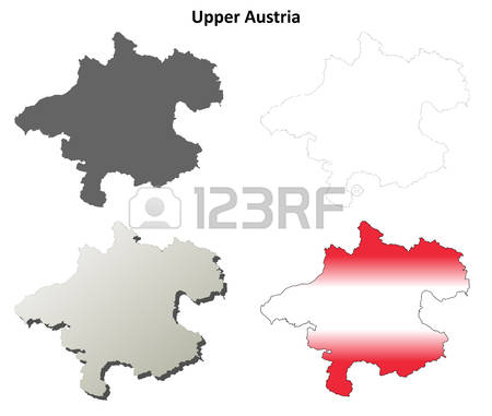 166 Upper Austria Map Stock Vector Illustration And Royalty Free.