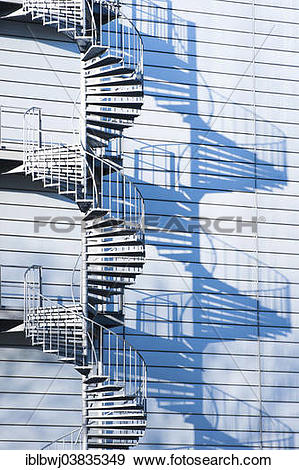 "Stock Photograph of ""Factory building, industrial plant, spiral."