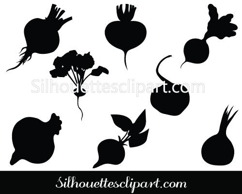vegetable silhouettes.