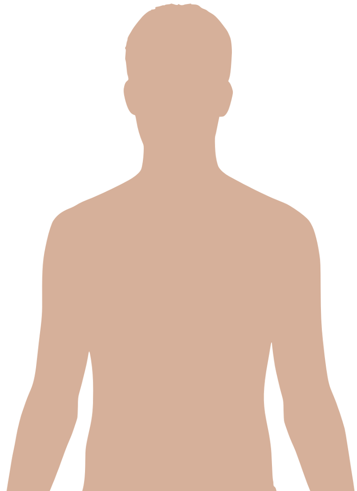 Upper body man clipart.