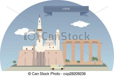 Vectors of Luxor, Egypt.