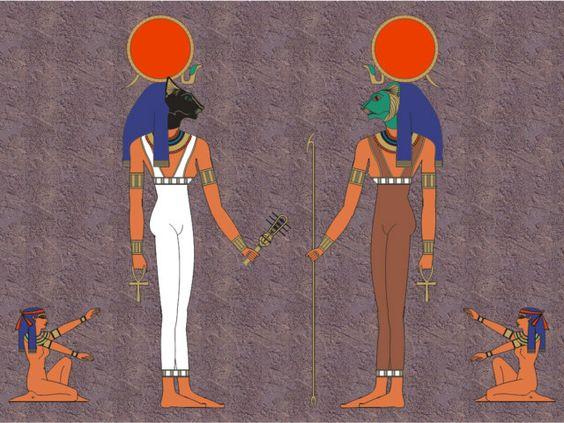 Goddess of Lower Egypt (Bast) and Upper Egypt (Sekhmet).