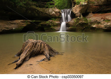 Stock Photographs of Upper Falls at Old Man's Cave, Hocking Hills.