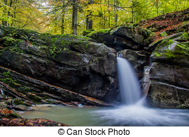 Stock Images of Enchanted Waterfall.