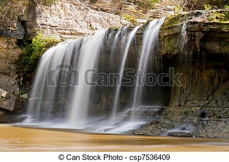 Stock Photographs of Upper Cataract Falls, Indiana.