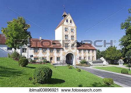 """Stock Photography of """"Oberes Tor, Upper Gate, Rot an der Rot."""