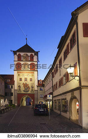 "Stock Photo of ""Lindau Gate or Gate of St Martin, Wangen, Upper."