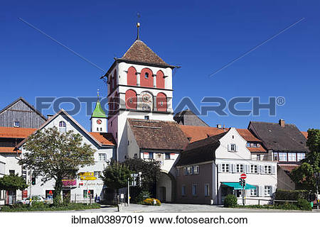 "Stock Photograph of ""Lindau Gate or Gate of St Martin, Wangen."