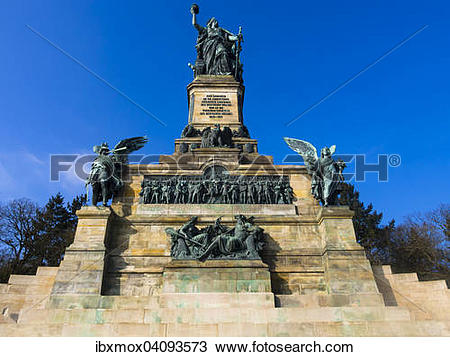 Stock Photo of Niederwald Monument, UNESCO World Heritage Site.