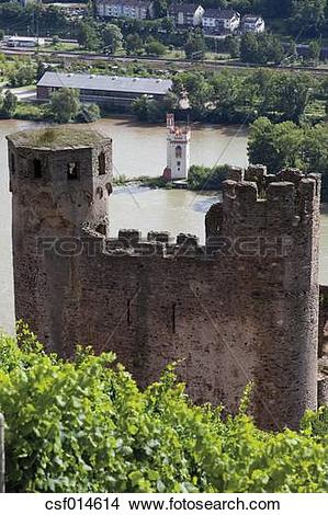 Stock Photo of Europe, Germany, Hesse, Upper Middle Rhine Valley.